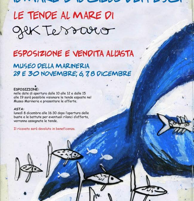 Tende al mare 2014 di Gek Tessaro: mostra e asta di beneficenza
